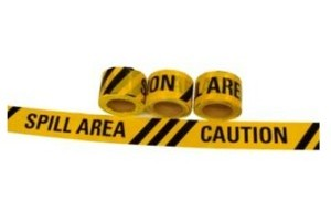 Caution Spill Area Tape